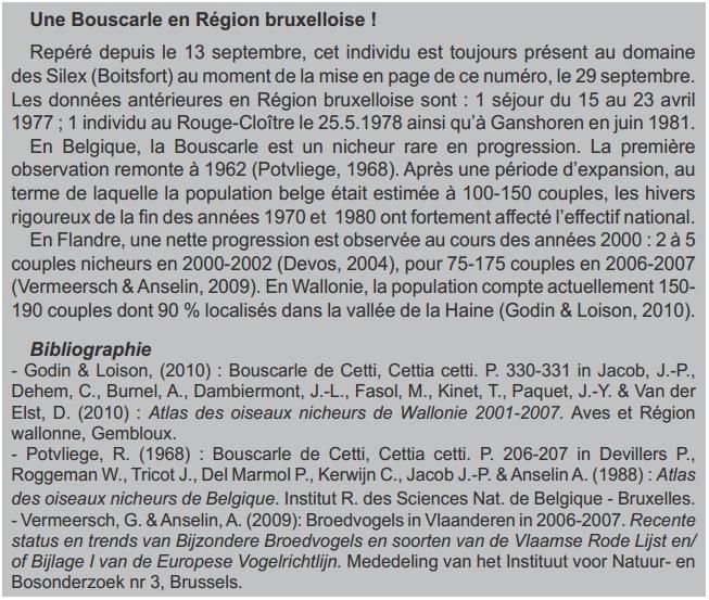 Bouscarle Aves